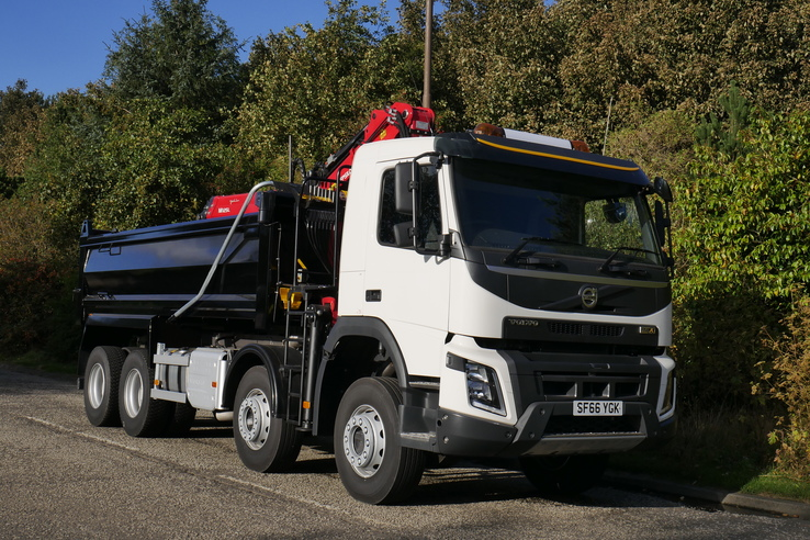 Slider sf66ygk volvo fmx tipper grab thompson body