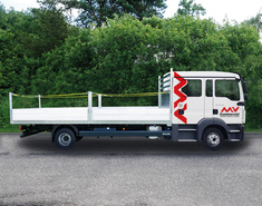 Index mvb064 man tgl 12250 crew cab scaffolding truck side view