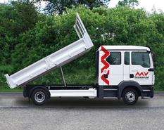 Index mvb063 man tgl 12250 crew cab tipper truck side view